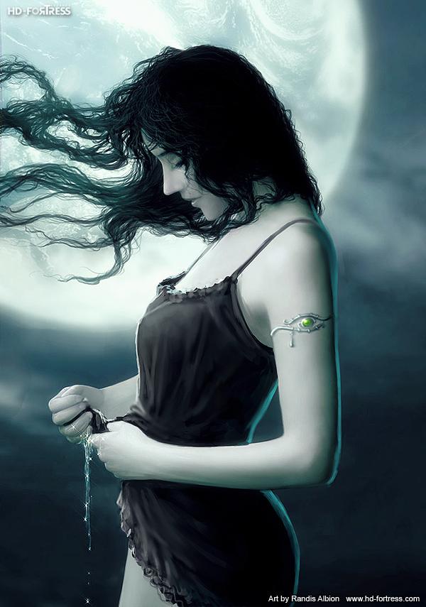 Moon Child - black by randis