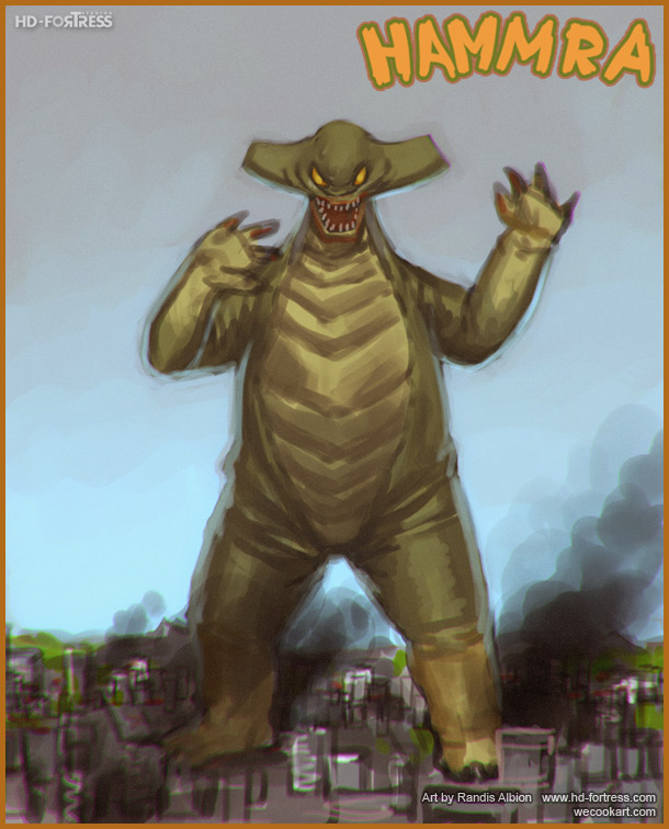 HAMMRA Retro monster by randis