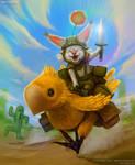 Moogle riding Chocobo