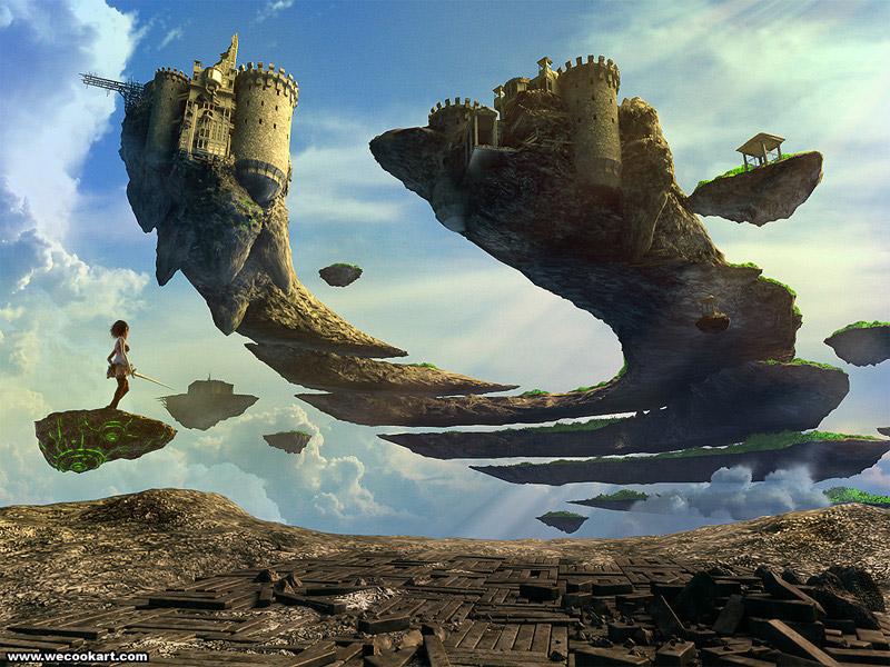 Floating Ruins By Randis On Deviantart