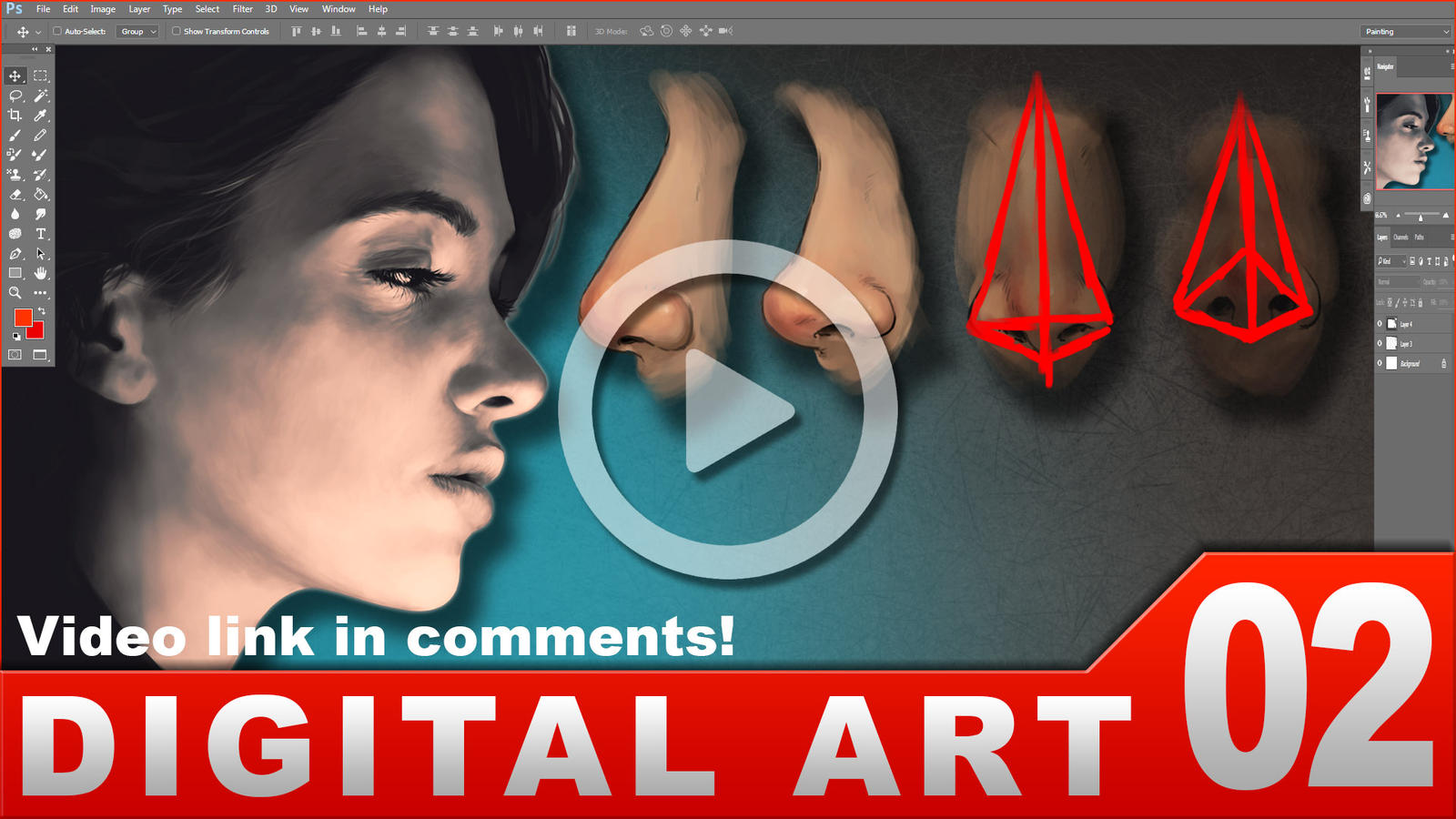 How to paint a nose [VIDEO] tutorial by randis
