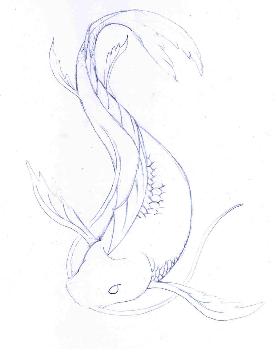 Koi fish 2 by goyardin on deviantart for Koi fish sketch