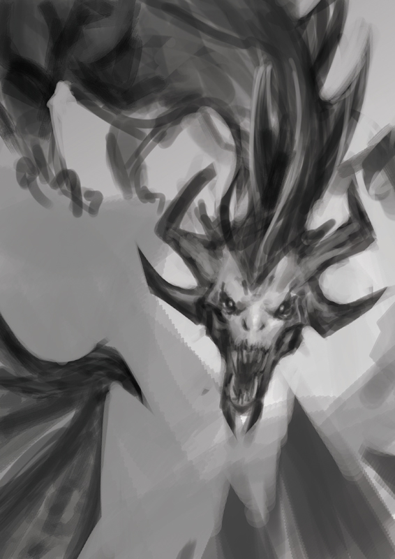 Speed Painting : Dragon by Pakoune