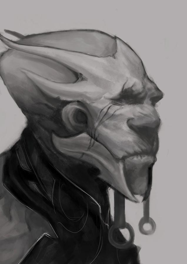 Speed Painting : Alien Portrait by Pakoune