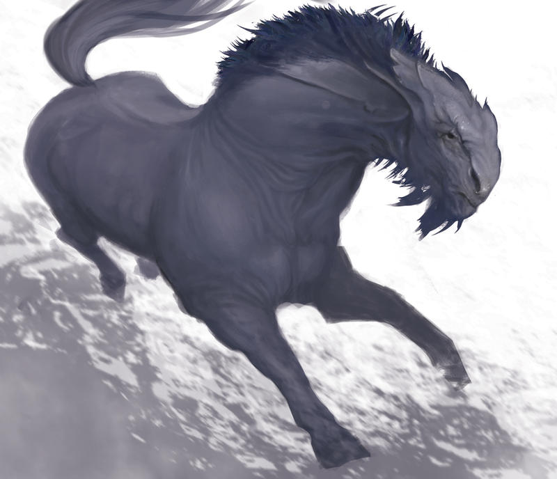 Speed Painting : Dragon Horse by Pakoune
