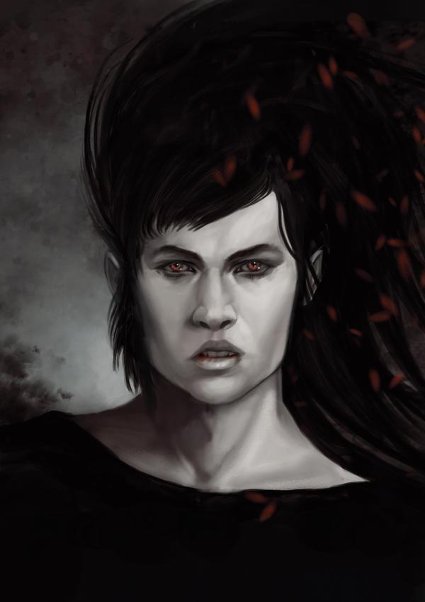 Vampire Portrait by Pakoune