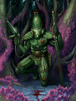 Stalking the prey ( Striking Scorpion) by RazydaArt