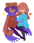 Niko and Frisk