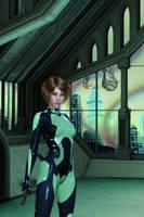 Alien in the window by OlgaGodim