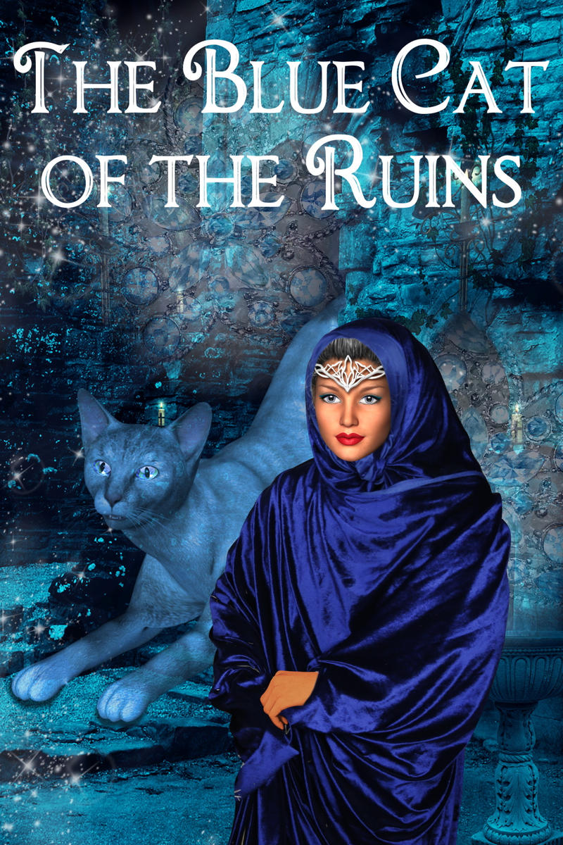 The blue cat of the ruins