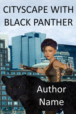 Cityscape with black panther