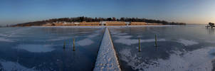 Frozen beach by peroxyacetone