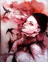 Crimson Wind by Andrzej-Korytkowski