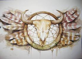 Buffalo skull by Andrzej-Korytkowski