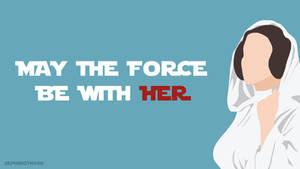 Princess Leia (Star Wars) Minimalist Wallpaper