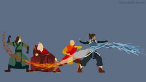 Avatar - Kyoshi | Roku | Aang | Korra - Minimalist