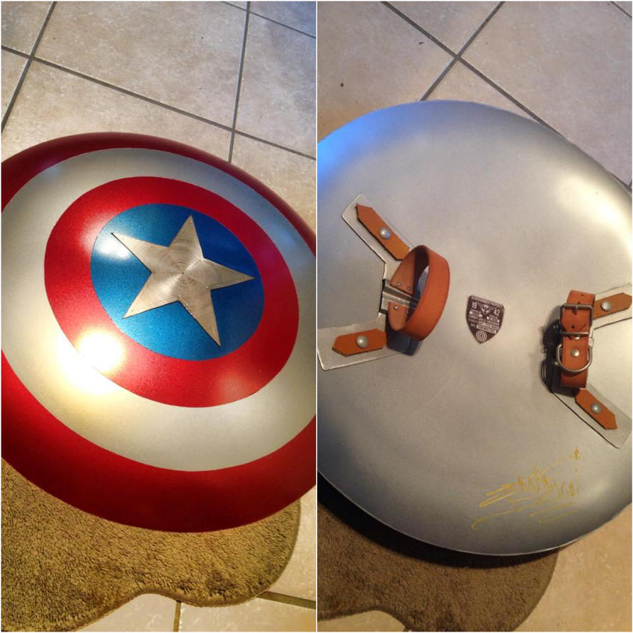bouclier captain america captain america shield by iknufidesign - Bouclier Captain America