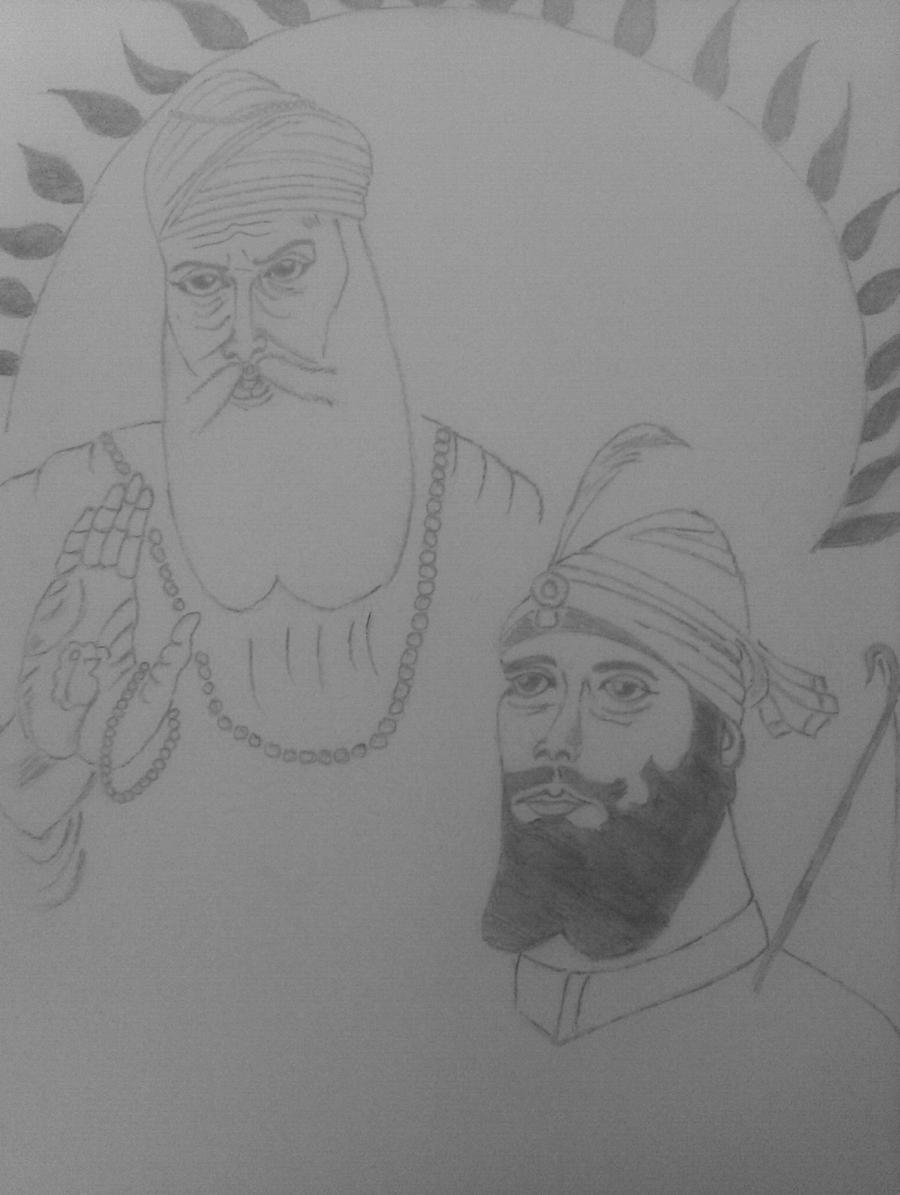 Guru Nanak Dev Ji,Guru Gobind Singh ji by Auctorthots on ...