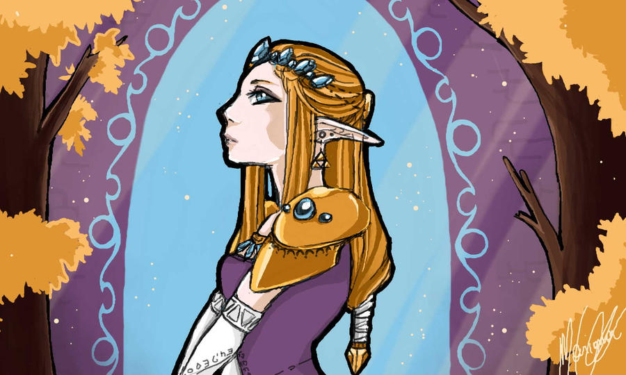 Legend of Zelda - The Princess by Tri-Heart