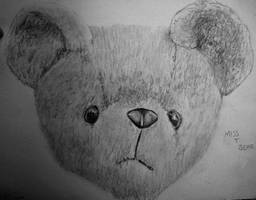 Miss T Bear Drawing by Pallet1