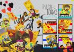 Pack- 5 x Icons Pandora Hearts