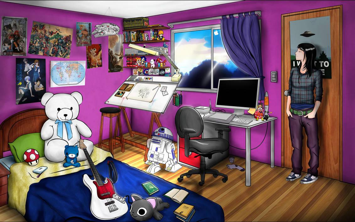 Rachel geeks room
