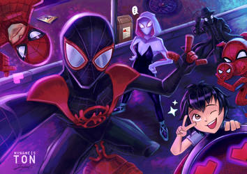 Spider-Man Into The Spiderverse Fanart by tontentotza