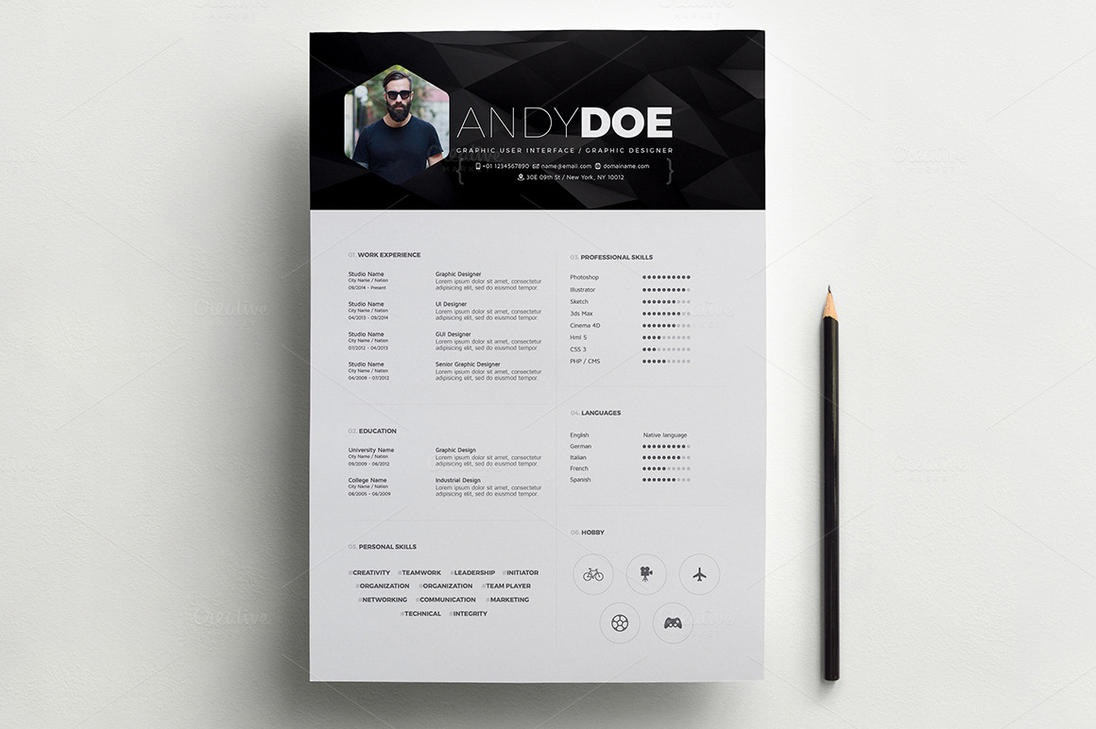 smart resume a4 by drawzen