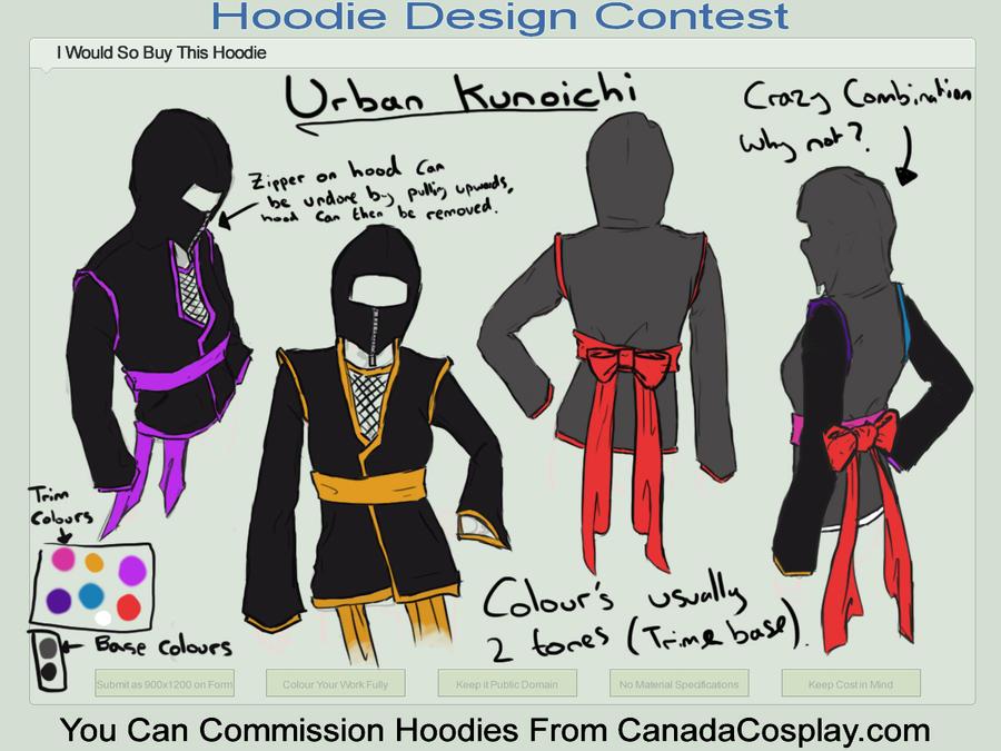 Hoodie Contest Urban Kunoichi by CarlViaBrittania