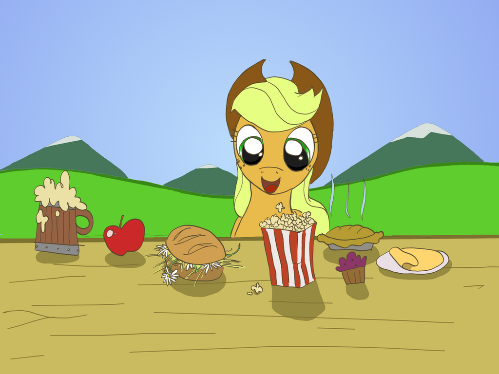 AppleJack's breakfast by crazyrems