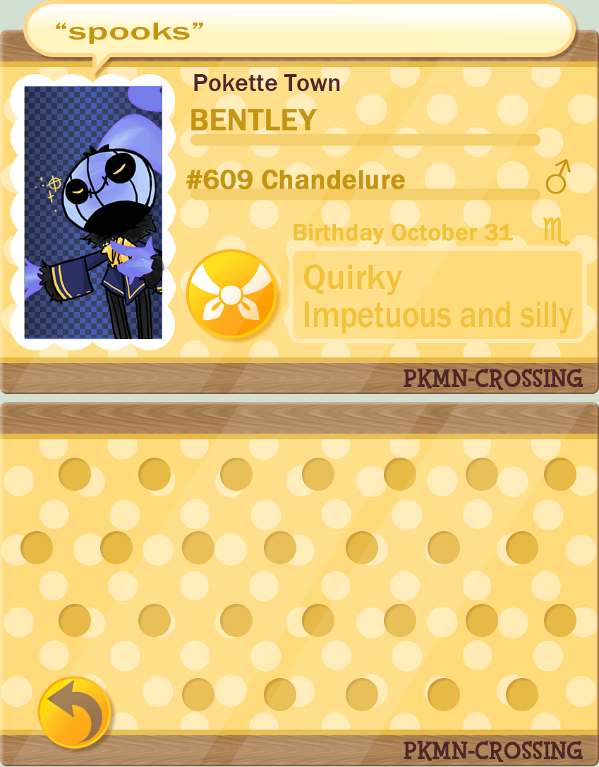 Bentley TPC- PKMN Crossing App by RagtimeLime