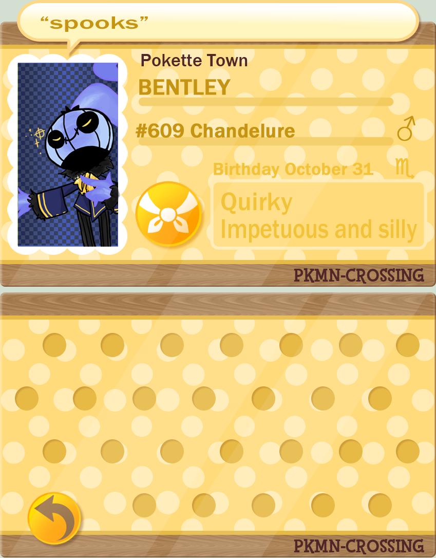 Bentley TPC- PKMN Crossing App by RagtimeLime