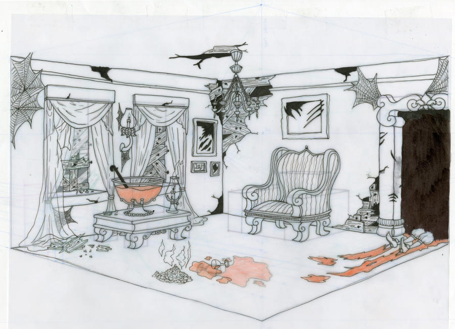 The Line Art And Living : Vampire living room by mimuam on deviantart