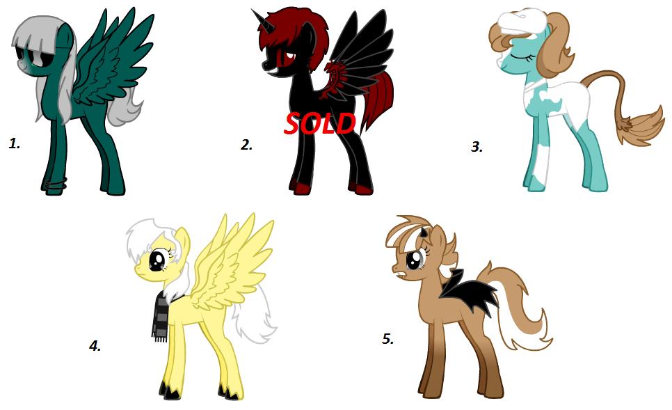 My little pony Adoptables by X-Hydra04