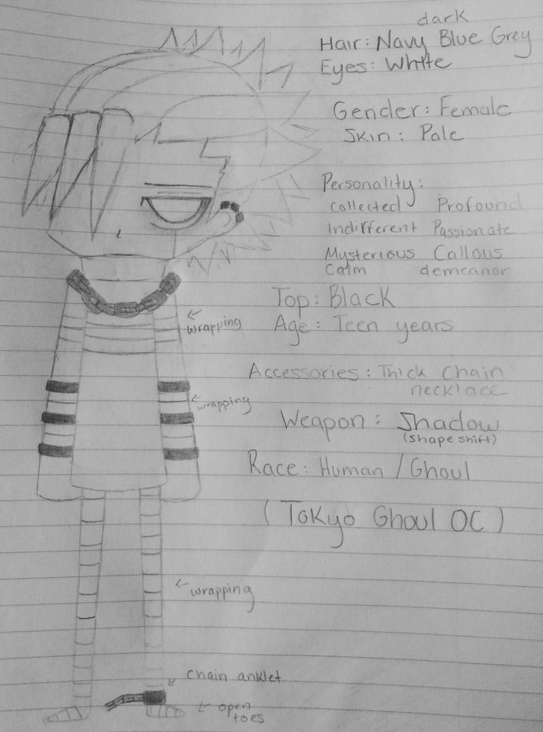 Tokyo Ghoul OC by X-Hydra04