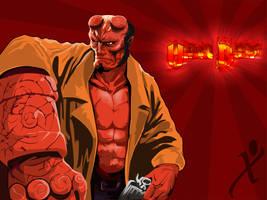Hell Boy by xcazu