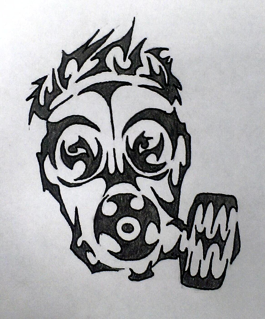 Tribal Mask Design Gas mask tribal design by