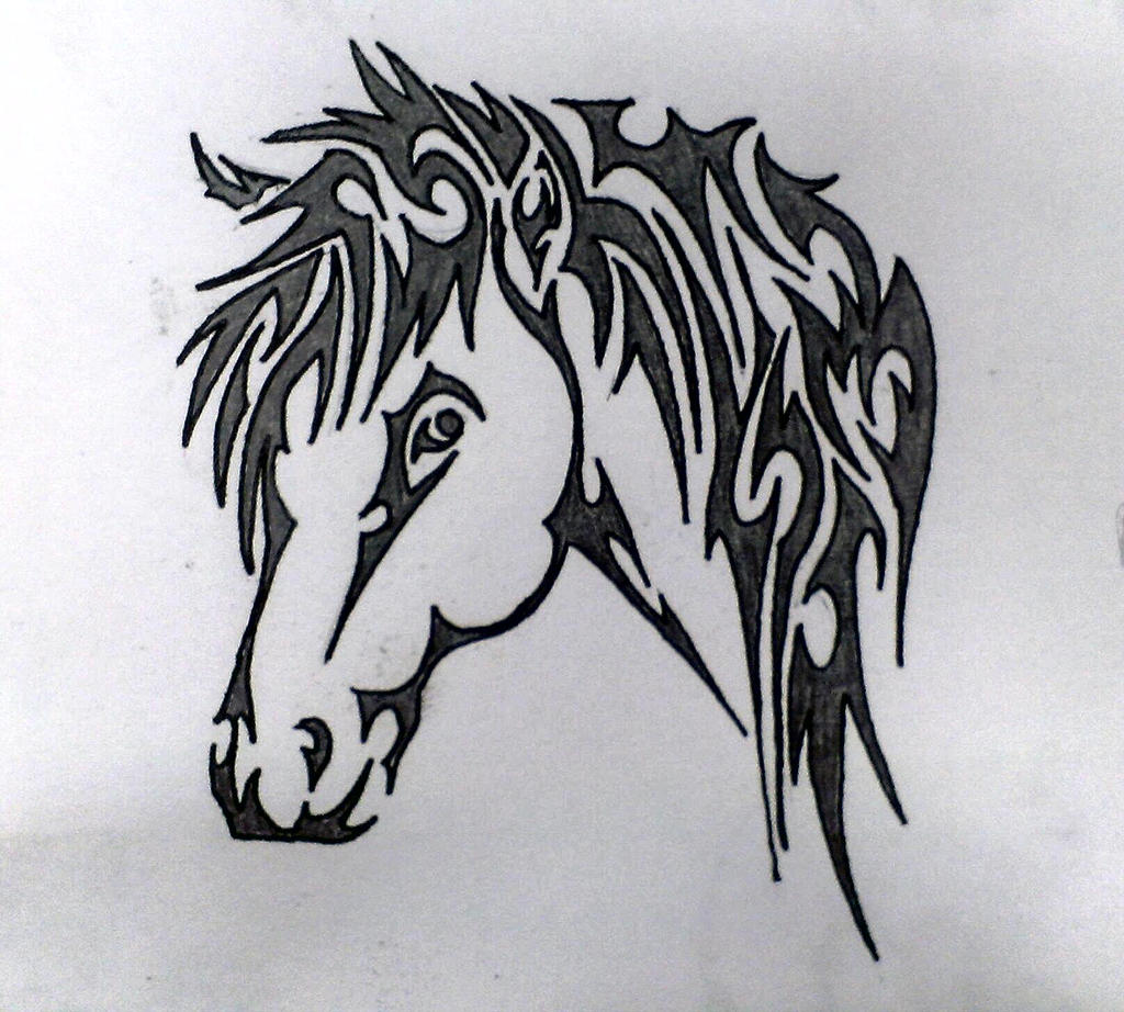 It's just a graphic of Transformative Tribal Horse Drawing