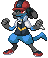 Ash as a Lucario sprite by Zohaku