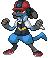 Ash as a Lucario sprite by Zohaku