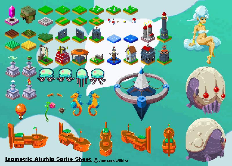 Airship SpriteSheet Updated by indie-illustrator
