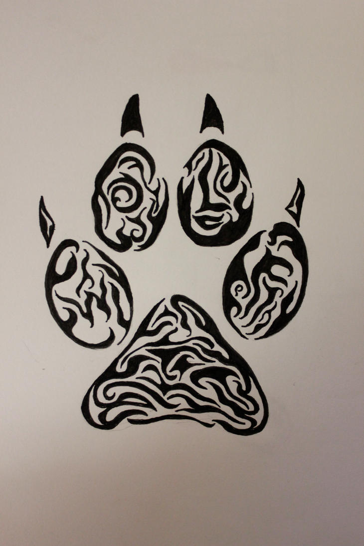 wolf paw tribal tattoo by wolfbaltodog on deviantart. Black Bedroom Furniture Sets. Home Design Ideas