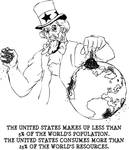 Hungry Uncle Sam Consumes