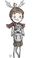 Wigfrid Holding a Catcoon