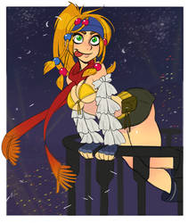 Rikku COMMISSION by G-3-n-o