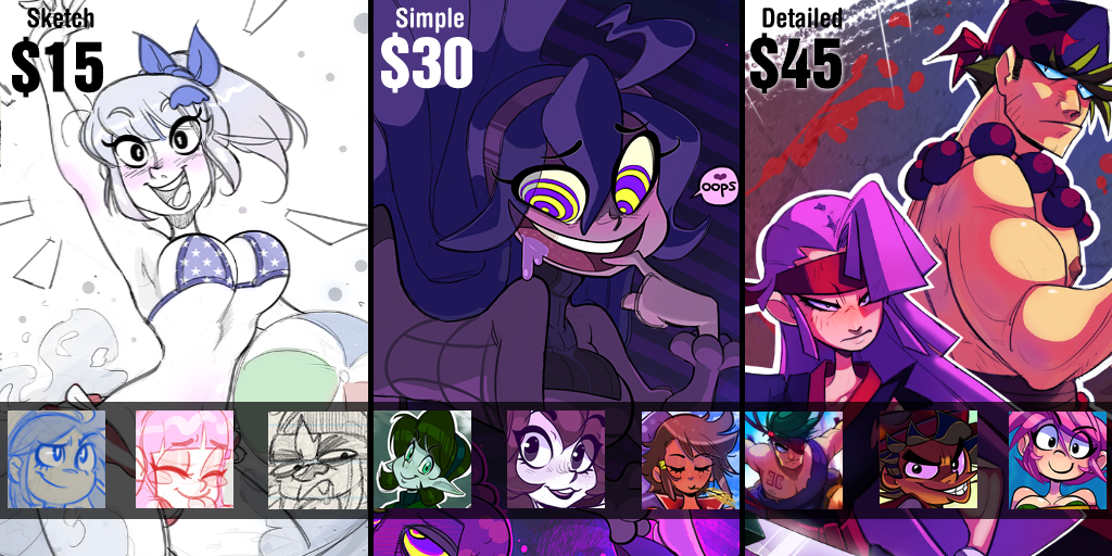 Ad Commissions 2 by G-3-n-o