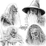 Gandalf sketches