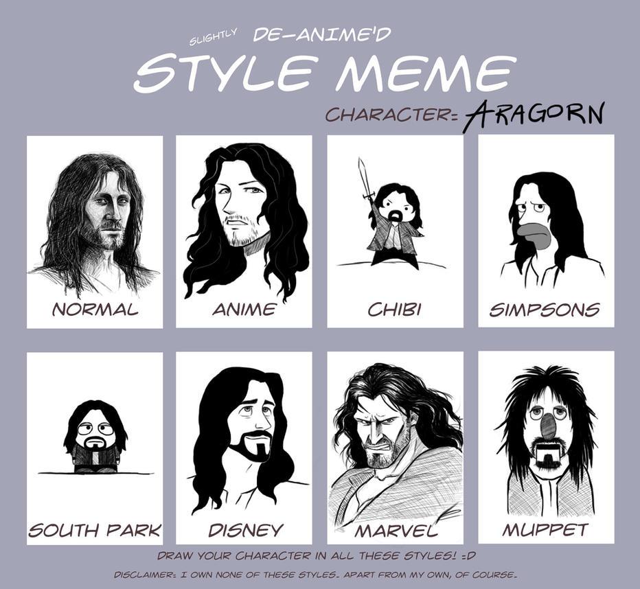 Style Meme: Aragorn by Manweri