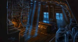 The wizard's hidden home by Manweri