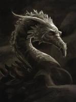 Dragon portrait by Manweri